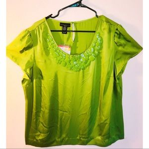 NEW Apostrophe Green Detailed Blouse Size 16-18 W